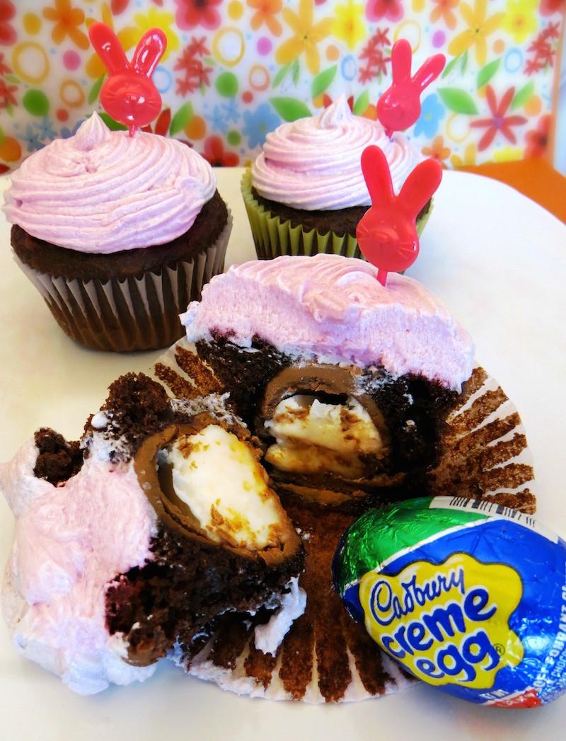 Fun Easter Desserts  Cadbury Creme Egg Cupcakes Recipes Fun Easter Dessert For