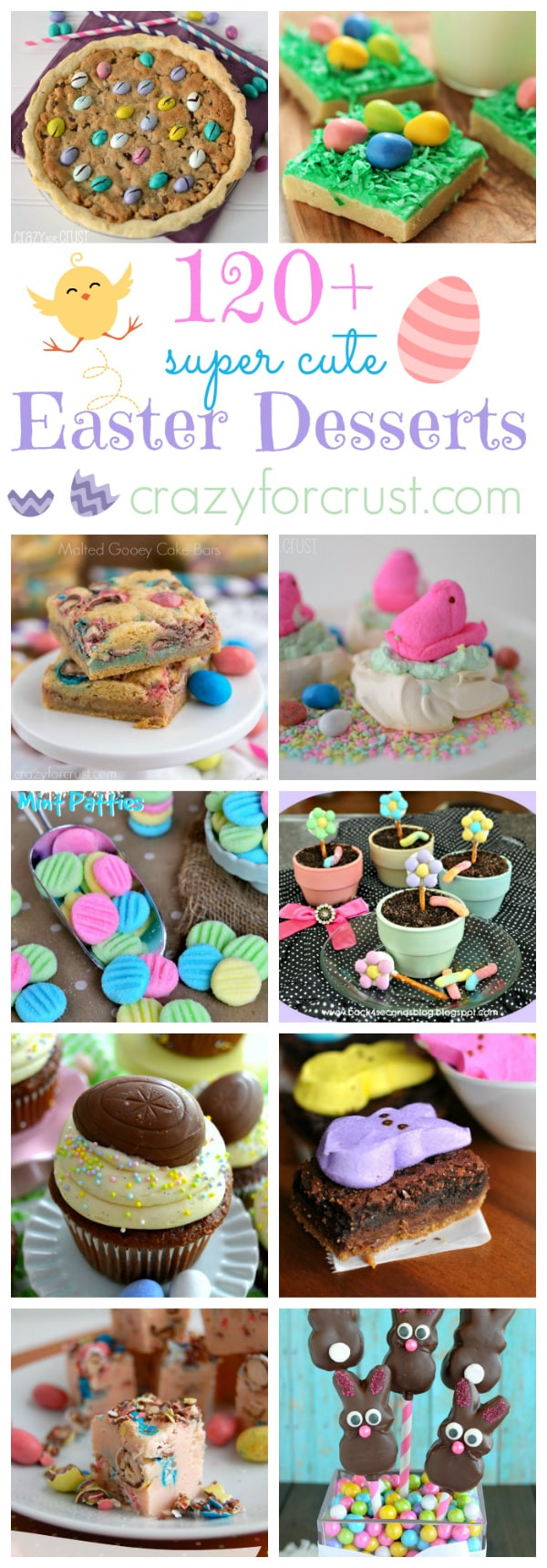 Fun Easter Desserts  Over 120 Fun Easter Desserts Crazy for Crust