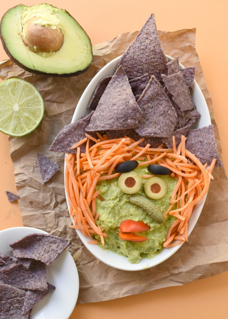 Fun Healthy Appetizers  Witchy Guacamole Dip Fork and Beans