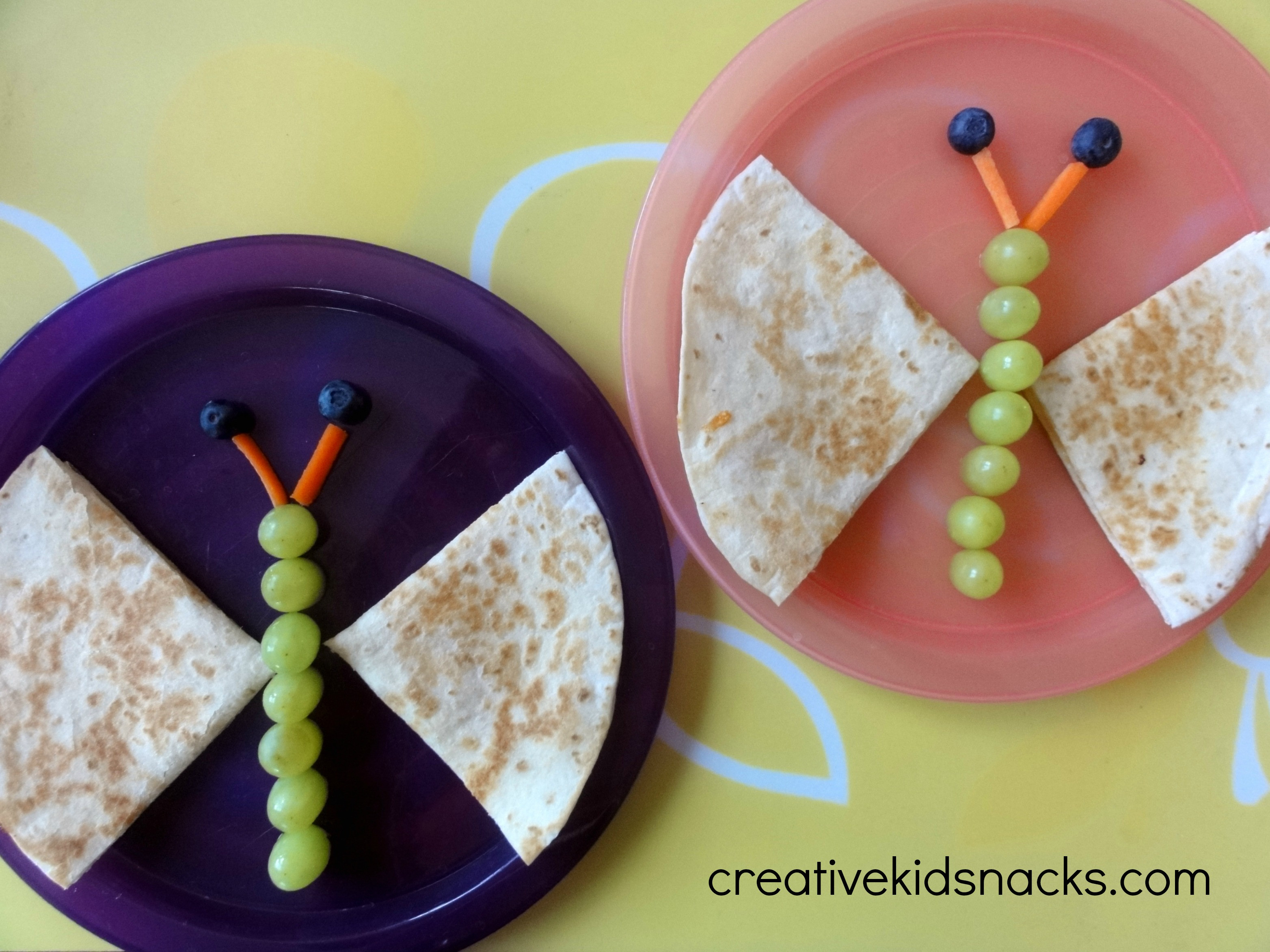 Fun Healthy Snacks  Butterfly Quesadilla Weekly Kids Co op