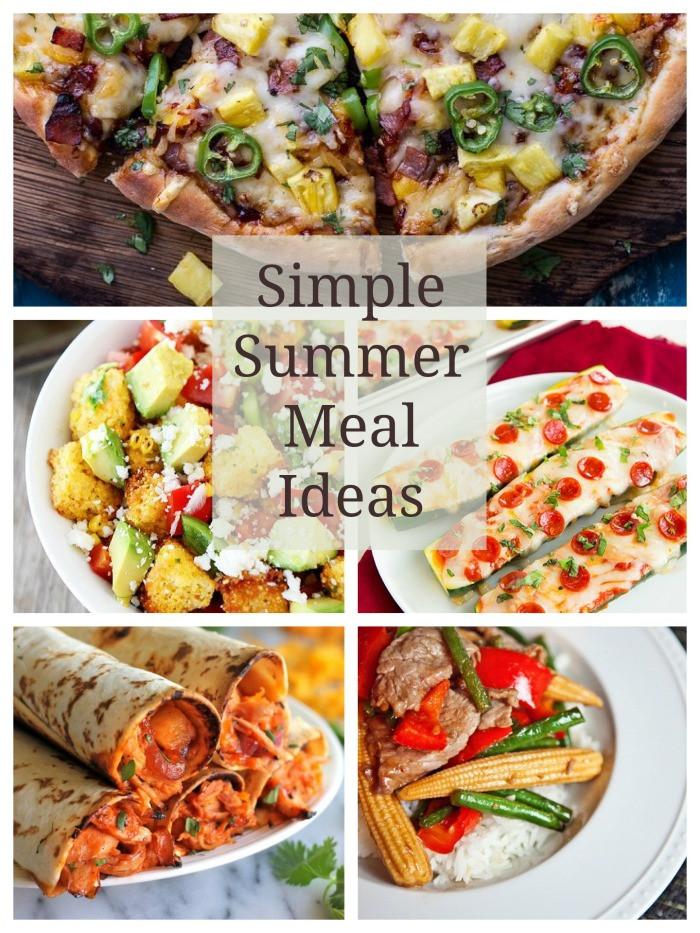 Fun Summer Dinners  Simple Summer Meals Cont d