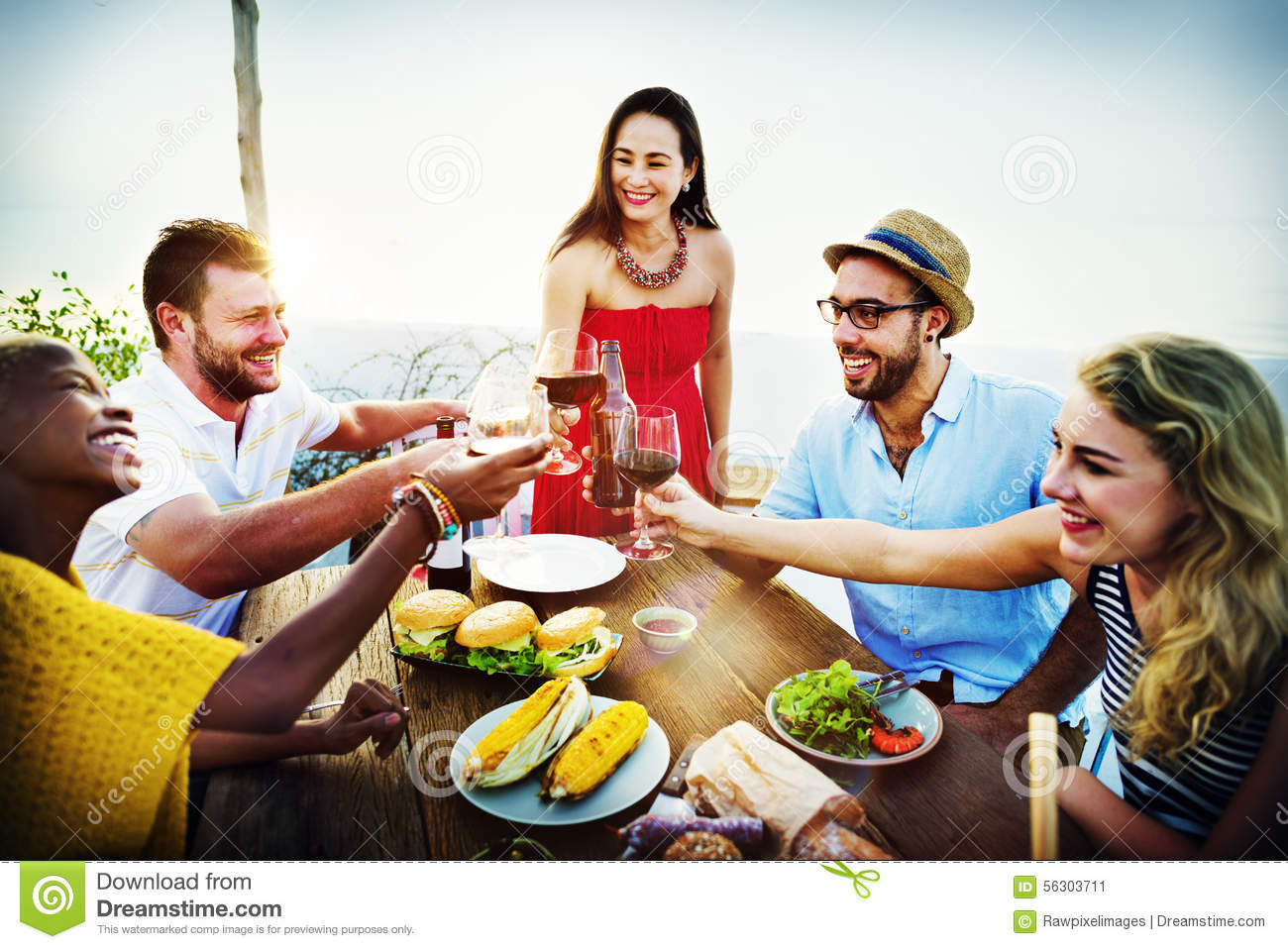 Fun Summer Dinners  Beach Cheers Celebration Friendship Summer Fun Dinner