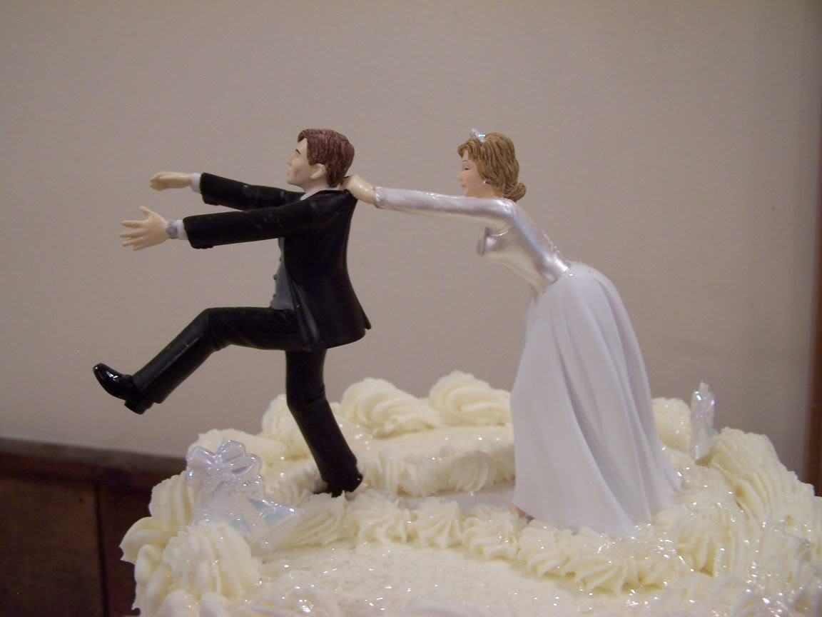Funny Cake Toppers For Wedding Cakes  funny wedding cake topper remarkable and no running again