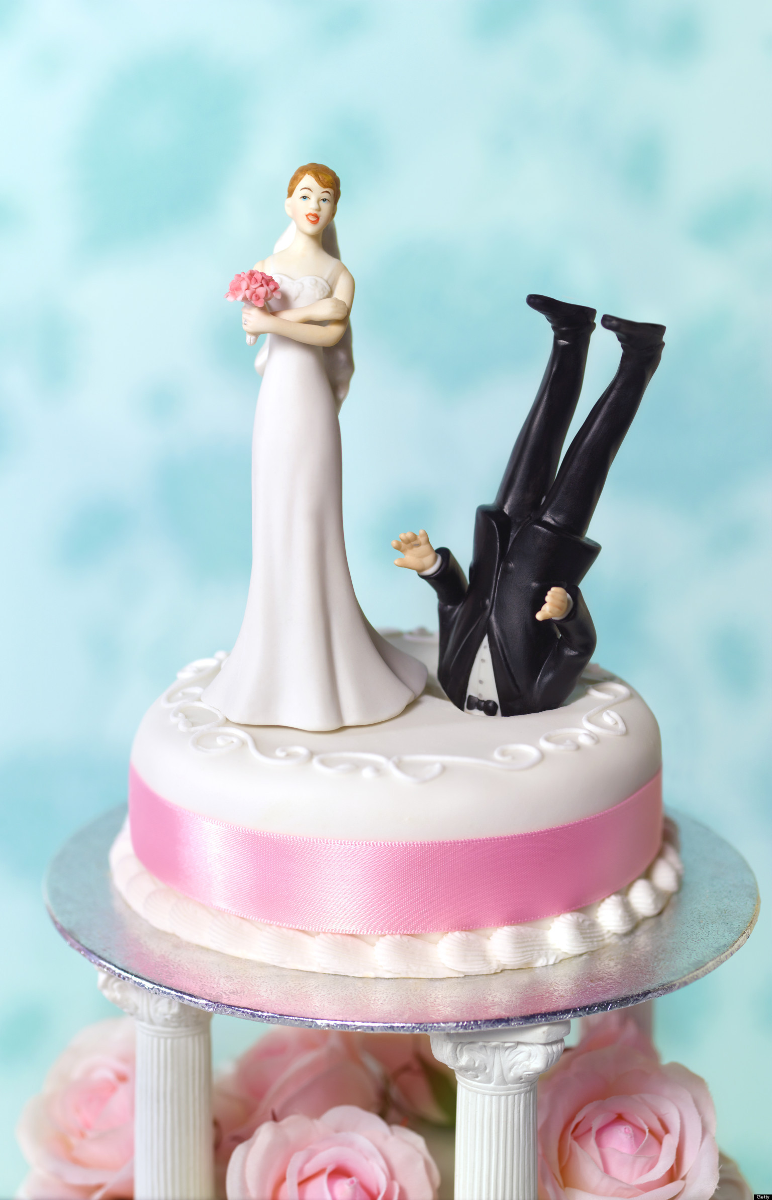 Funny Cake Toppers For Wedding Cakes  Funny Divorce What Huffpost Divorce Readers Wedding Cake