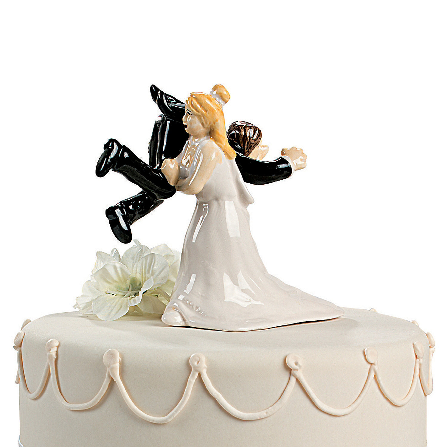 Funny Cake Toppers For Wedding Cakes  Interracial wedding cake toppers funny idea in 2017