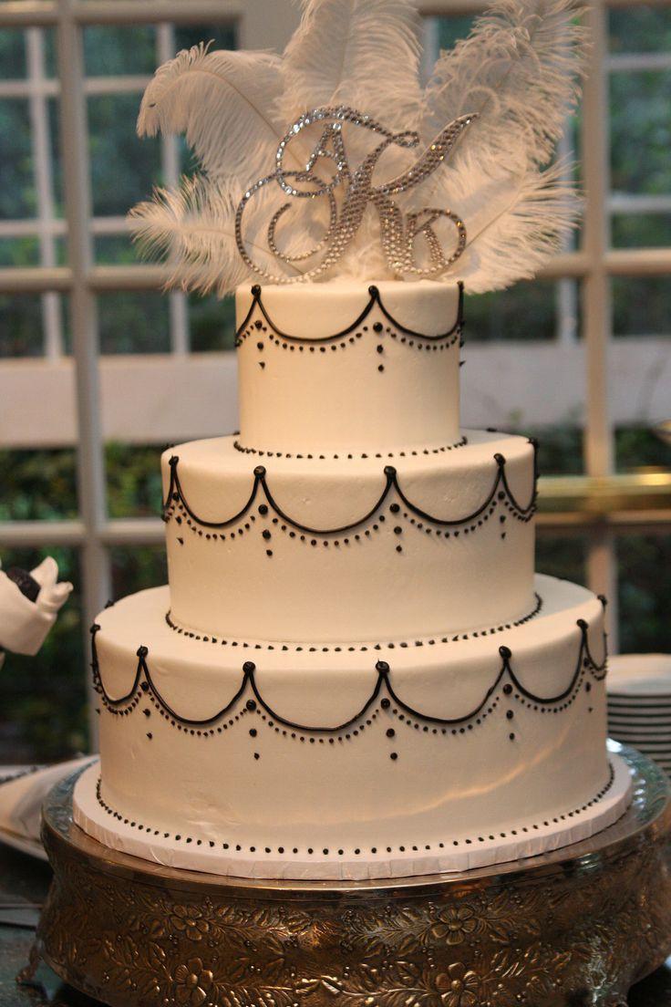 Gatsby Wedding Cakes  25 best 1920s Wedding Cake ideas on Pinterest