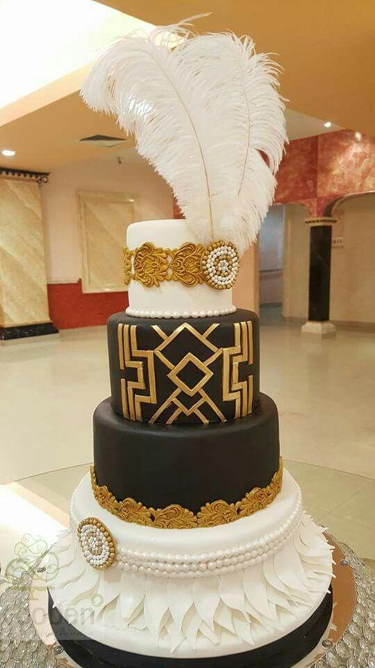 Gatsby Wedding Cakes  Great Gatsby Cake Cakes Pinterest