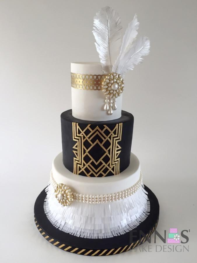 Gatsby Wedding Cakes  Great Gatsby Cake by Irina Ennas Cake Design