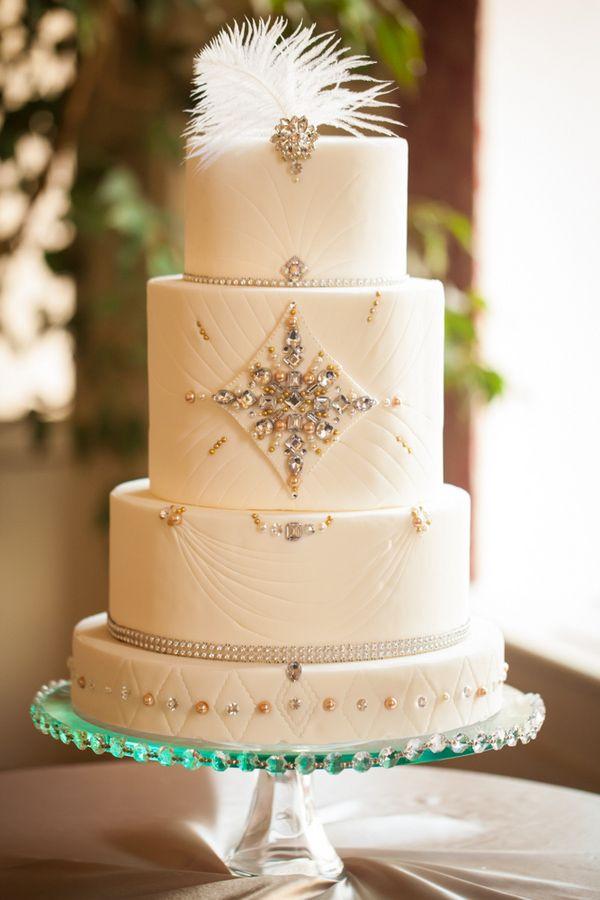 Gatsby Wedding Cakes  20 Deliciously Decadent Art Deco Wedding Cakes Chic