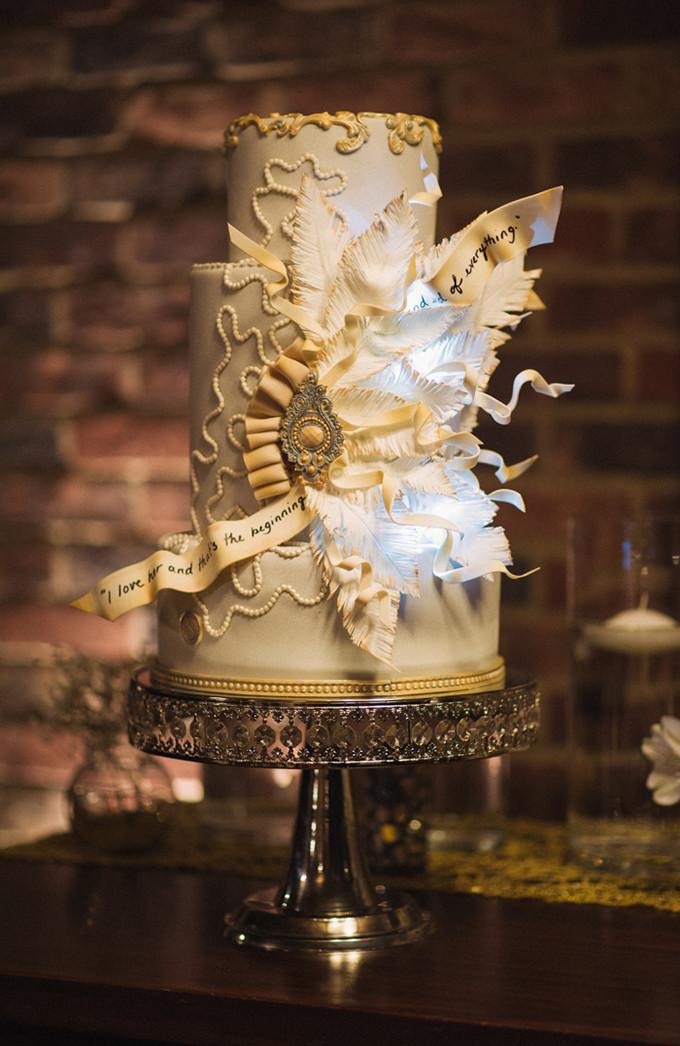 Gatsby Wedding Cakes  Great Gatsby Wedding Inspiration