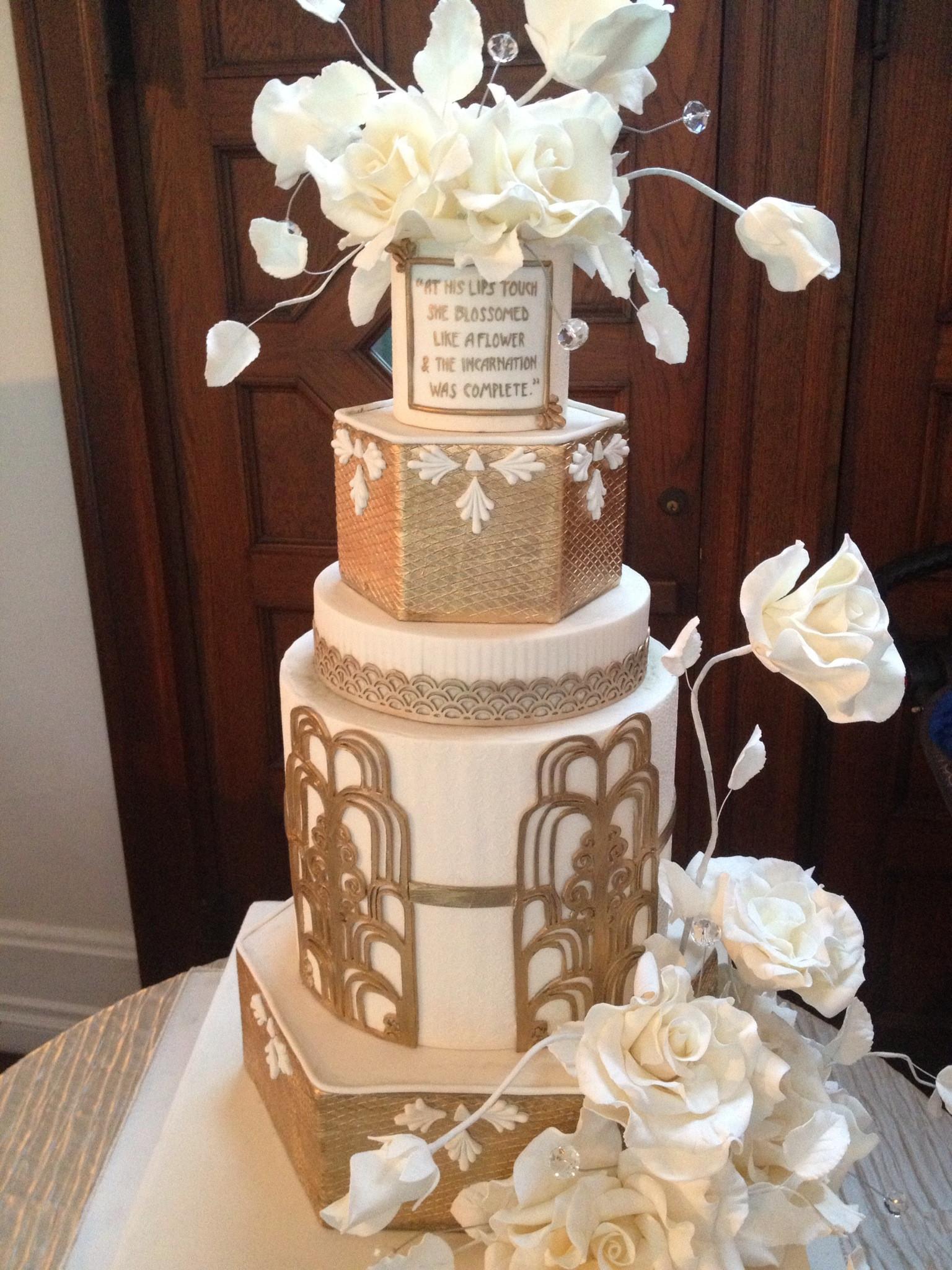 Gatsby Wedding Cakes  Great Gatsby Wedding Inspiration Santa Barbara Style