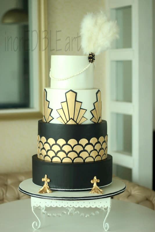 Gatsby Wedding Cakes  Gatsby Wedding Cake cake by Rumana Jaseel CakesDecor