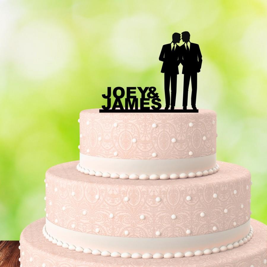 Gay Wedding Cakes  Gay Cake Topper His And His Gay Wedding Cake Topper