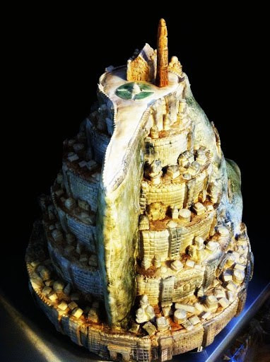 Geek Wedding Cakes Best 20 Geek Art Gallery Sweets Minas Tirith Cake