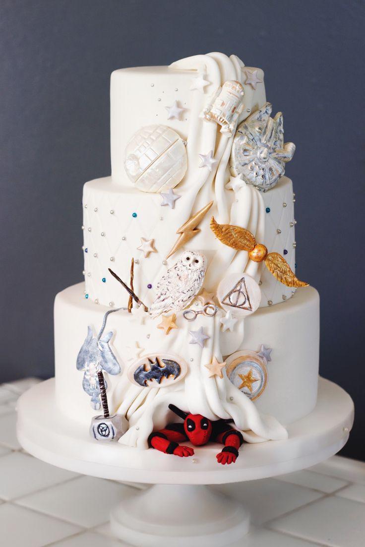Geek Wedding Cakes  The 25 best Marvel cake ideas on Pinterest