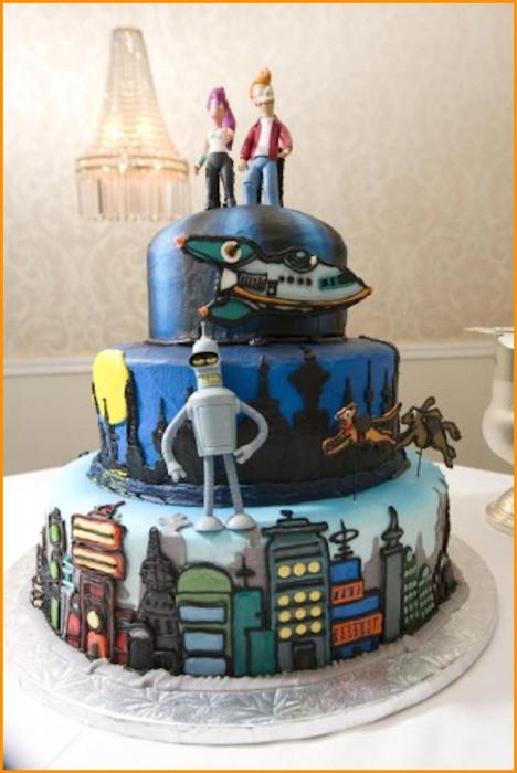 Geek Wedding Cakes  Amazing Cakes Nerd Cakes