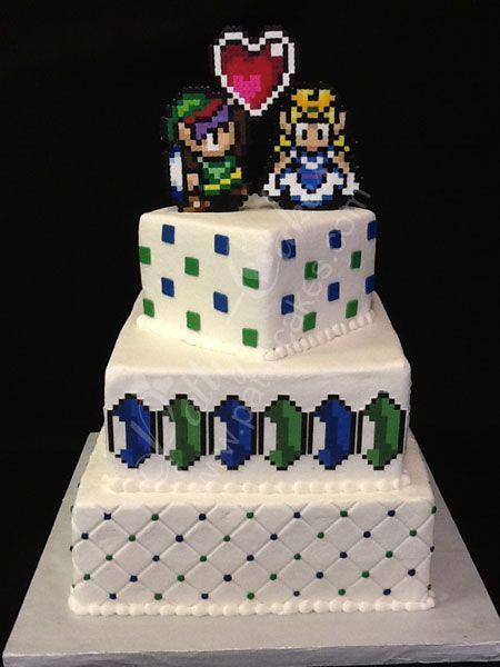 Geek Wedding Cakes  Geek Chic Patty Cakes 2012 Wedding Cakes Legend of Zelda