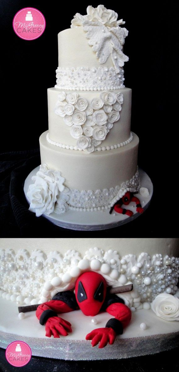 Geek Wedding Cakes  Best 25 Superhero wedding cake ideas on Pinterest