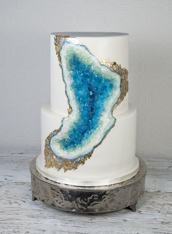 Geode Wedding Cakes  Geode Wedding Cake CakeCentral