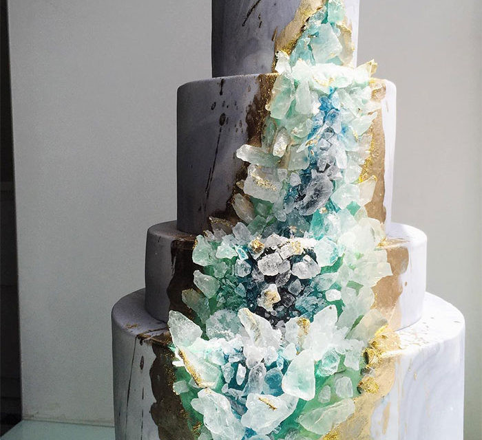 Geode Wedding Cakes  Her Wedding Planner Blog Archive The new wedding cake