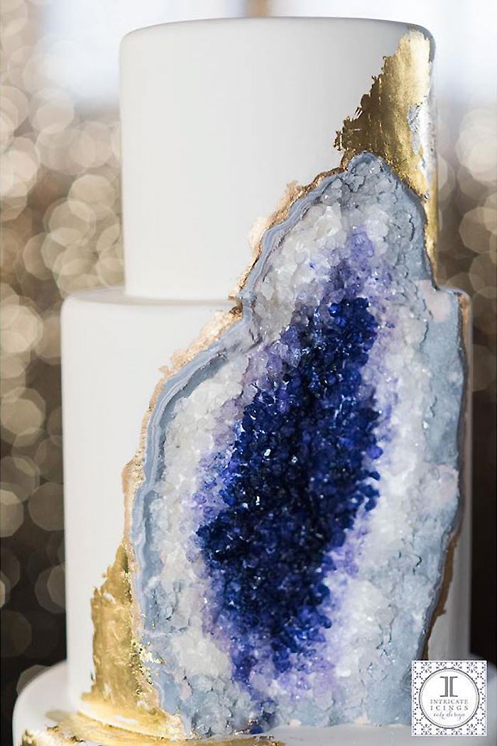 Geode Wedding Cakes  Amethyst Wedding Cake Whose Baker Was Clearly Under A Lot