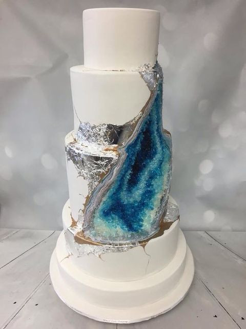Geode Wedding Cakes  57 Trendy And Chic Geode Wedding Ideas