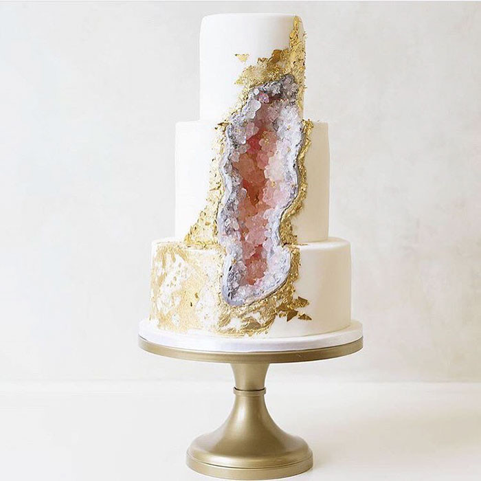 Geode Wedding Cakes  This New Geode Wedding Cake Trend Is Rocking The Internet