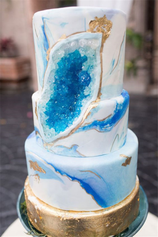 Geode Wedding Cakes  30 Geode Wedding Cakes Ideas Make You For All Other Cakes