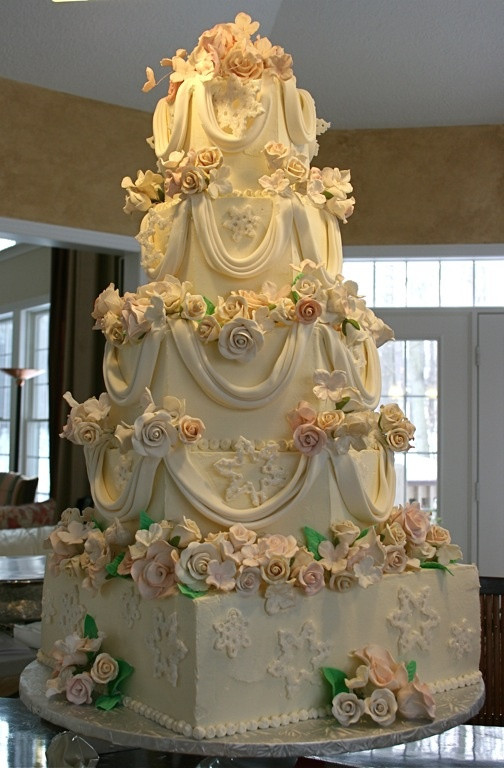 Gigantic Wedding Cakes  93 best images about Cake fabric folds on Pinterest
