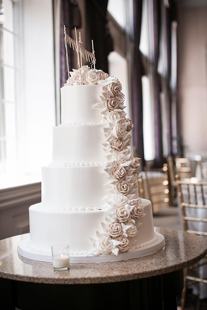 Glam Wedding Cakes  Peach Rustic Glam Wedding