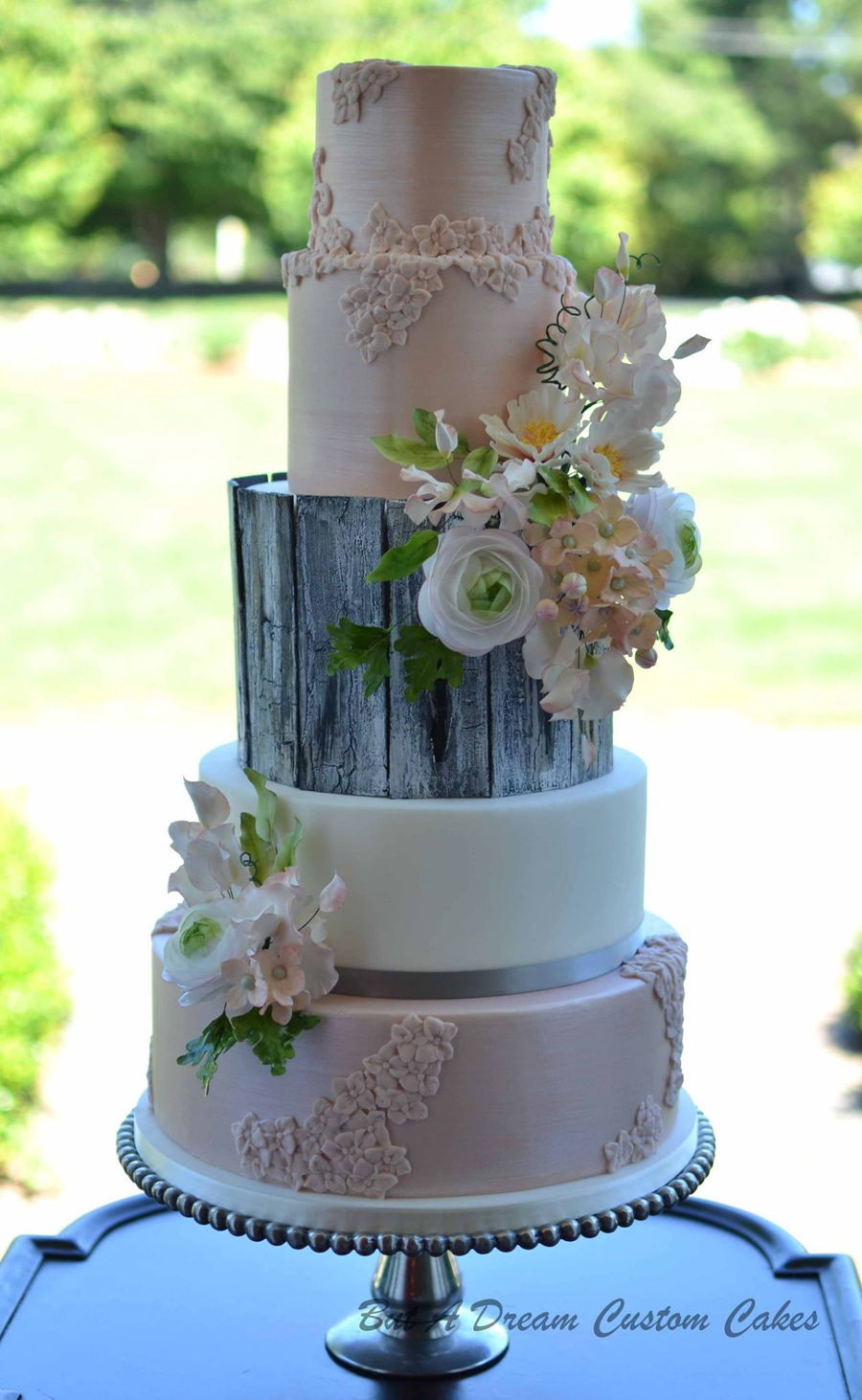 Glam Wedding Cakes  Rustic Glam Wedding Cake CakeCentral