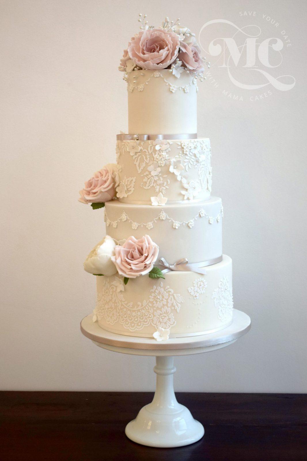 Glamour Wedding Cakes  Glamorous Lace