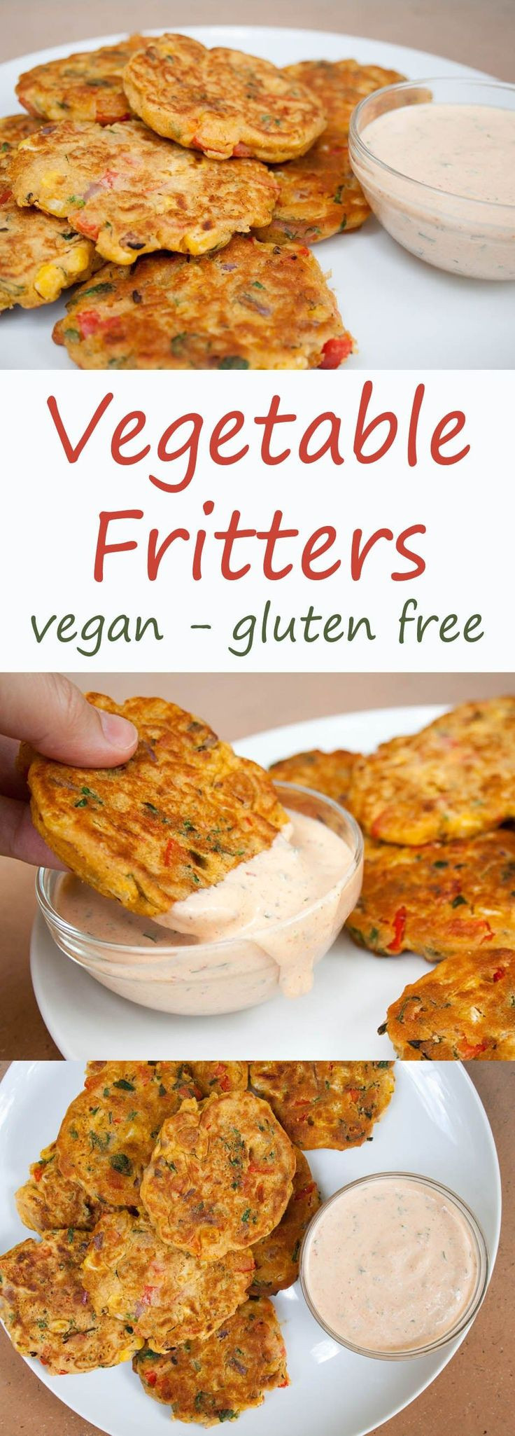 Gluten Free Camping Recipes  Ve able Fritters vegan gluten free These fritters