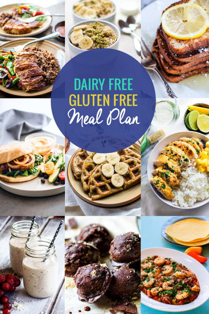 Gluten Free Healthy Recipes  Healthy Dairy Free Gluten Free Meal Plan Recipes