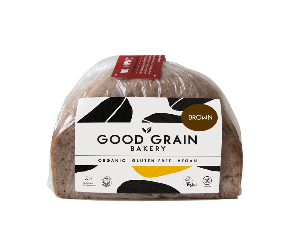 Gluten Free Organic Bread  Brown Loaf Gluten Free Organic Good Grain Bakery 450g