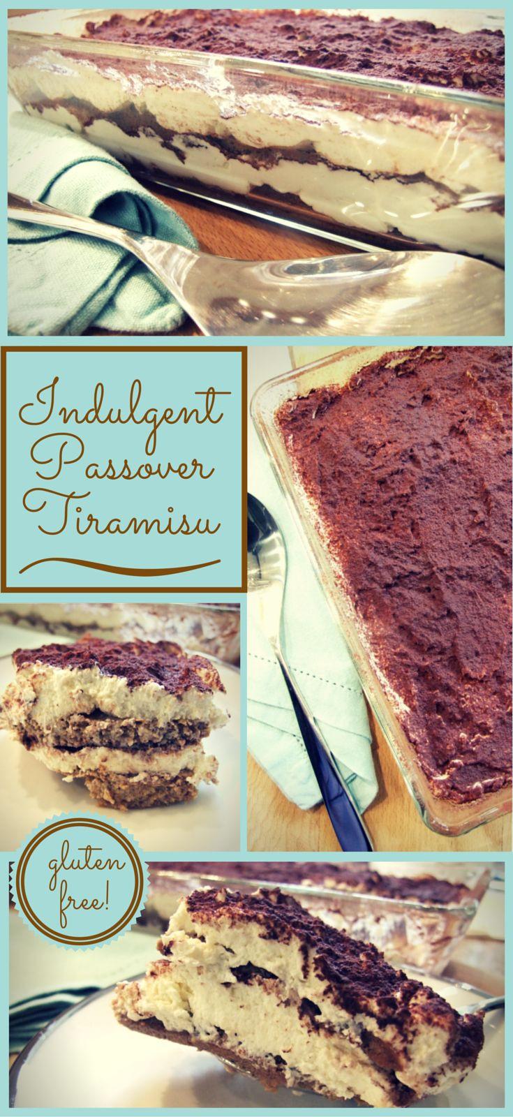 Gluten Free Passover Recipes  Indulgent Pesach tiramisu gluten free passover dessert