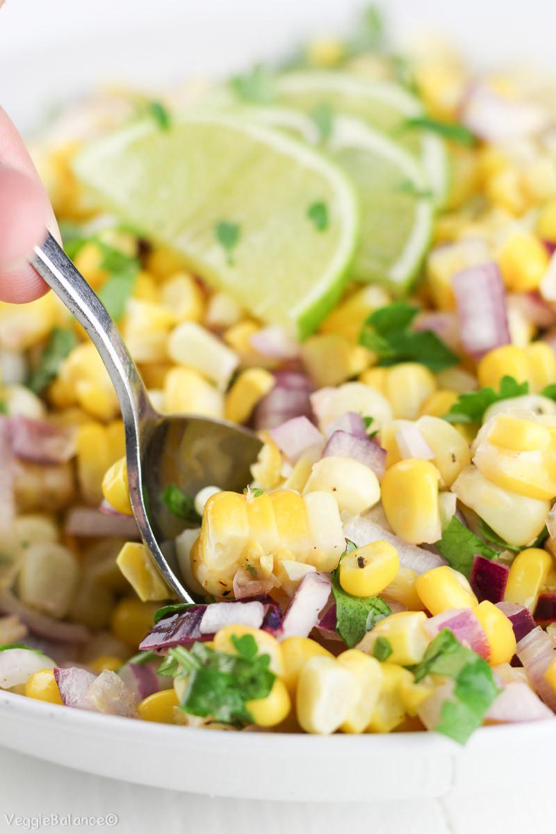 Gluten Free Side Dishes Summer  Summer Corn Salad made Healthy VeggieBalance