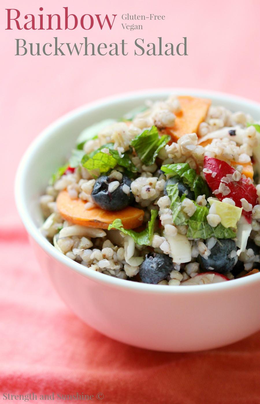 Gluten Free Side Dishes Summer  Rainbow Buckwheat Salad