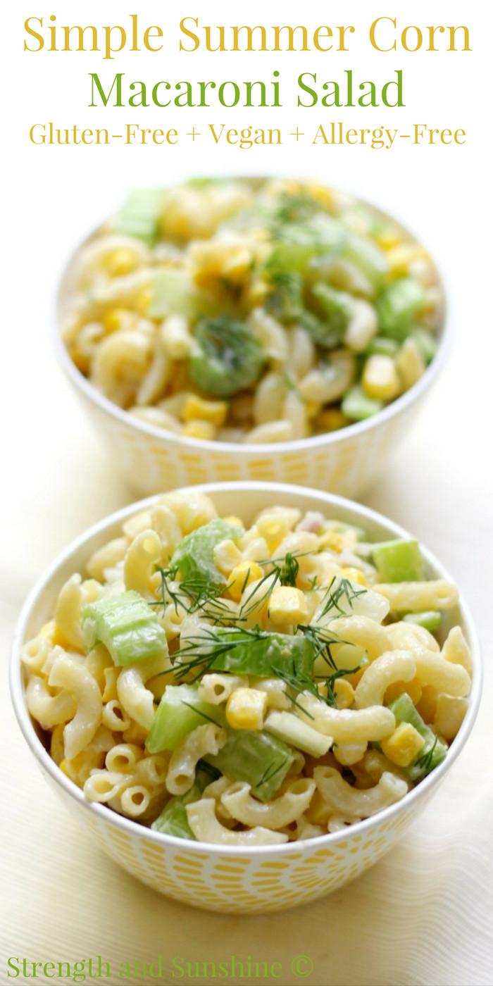 Gluten Free Side Dishes Summer  Simple Summer Corn Macaroni Salad Gluten Free Vegan