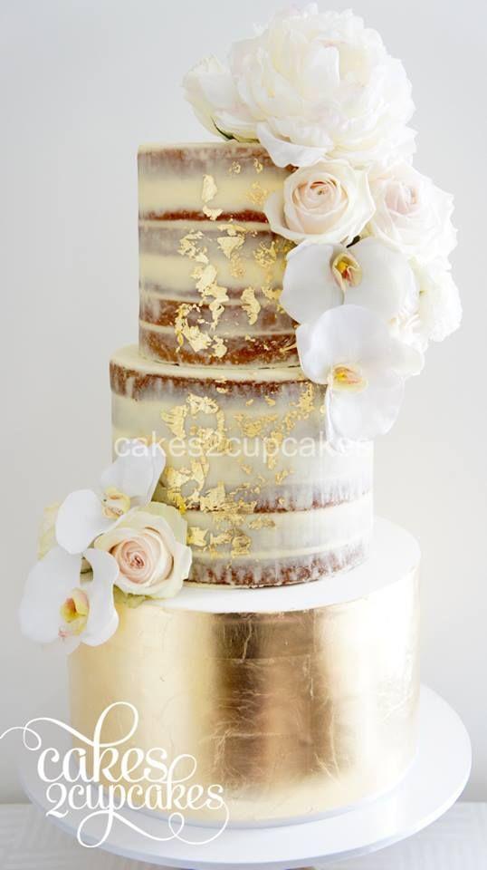 Gold Leaf Wedding Cakes  45 Classy And Elegant Wedding Cakes Graceful Inspiration
