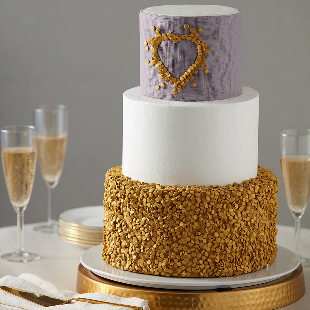 Gold Wedding Cakes  Glittery Gold Wedding Cake