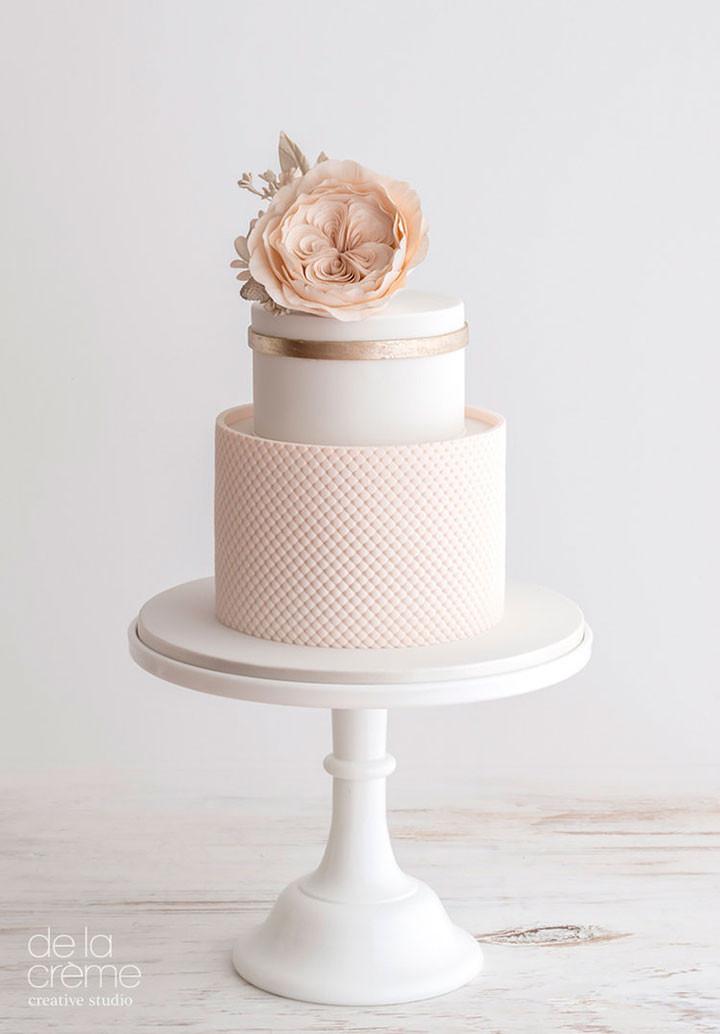 Gold Wedding Cakes  Blush & Rose Gold Wedding Cake Trio Mon Cheri Bridals
