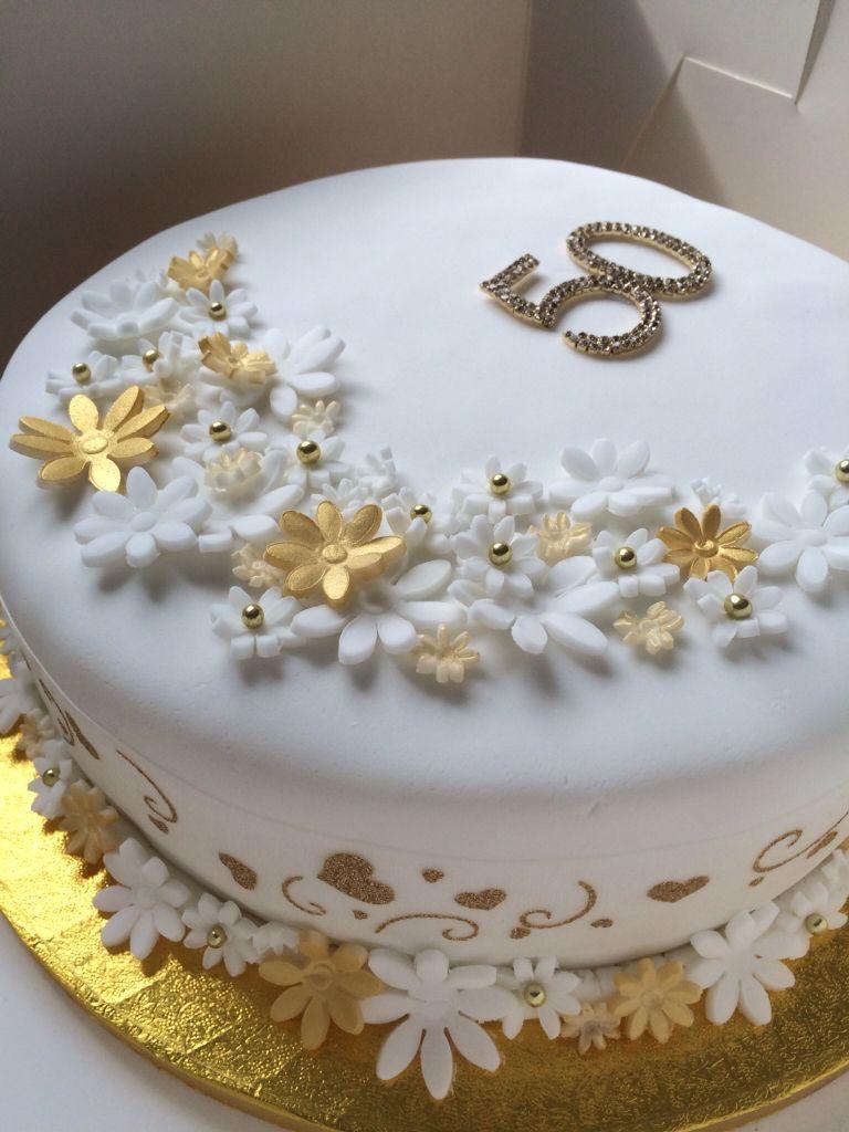 Golden Wedding Anniversary Cakes  Golden Wedding Anniversary Cake 50 years of marriage