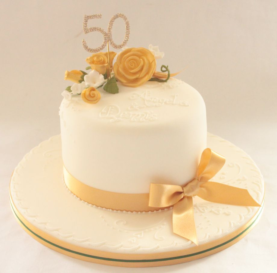 Golden Wedding Anniversary Cakes  Celebration Cakes by Marianne s Cakes