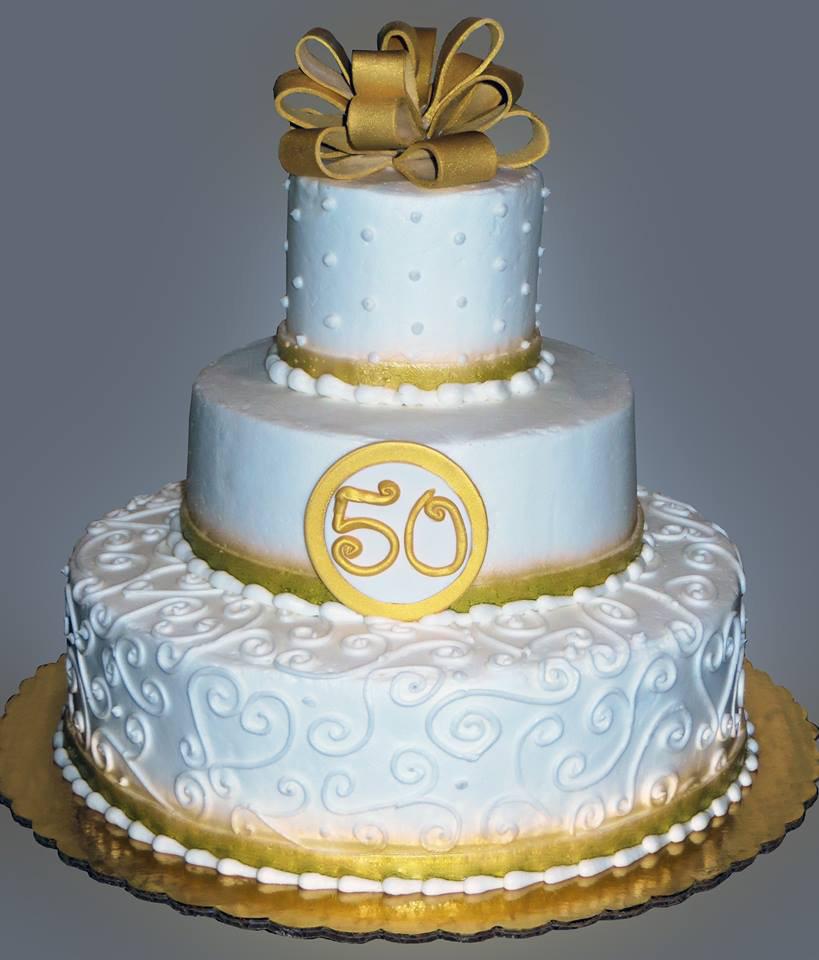 Golden Wedding Anniversary Cakes  Golden Anniversary Cake Sweet Somethings Desserts