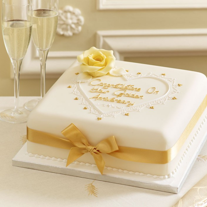 Golden Wedding Anniversary Cakes  Wedding Anniversary Cakes