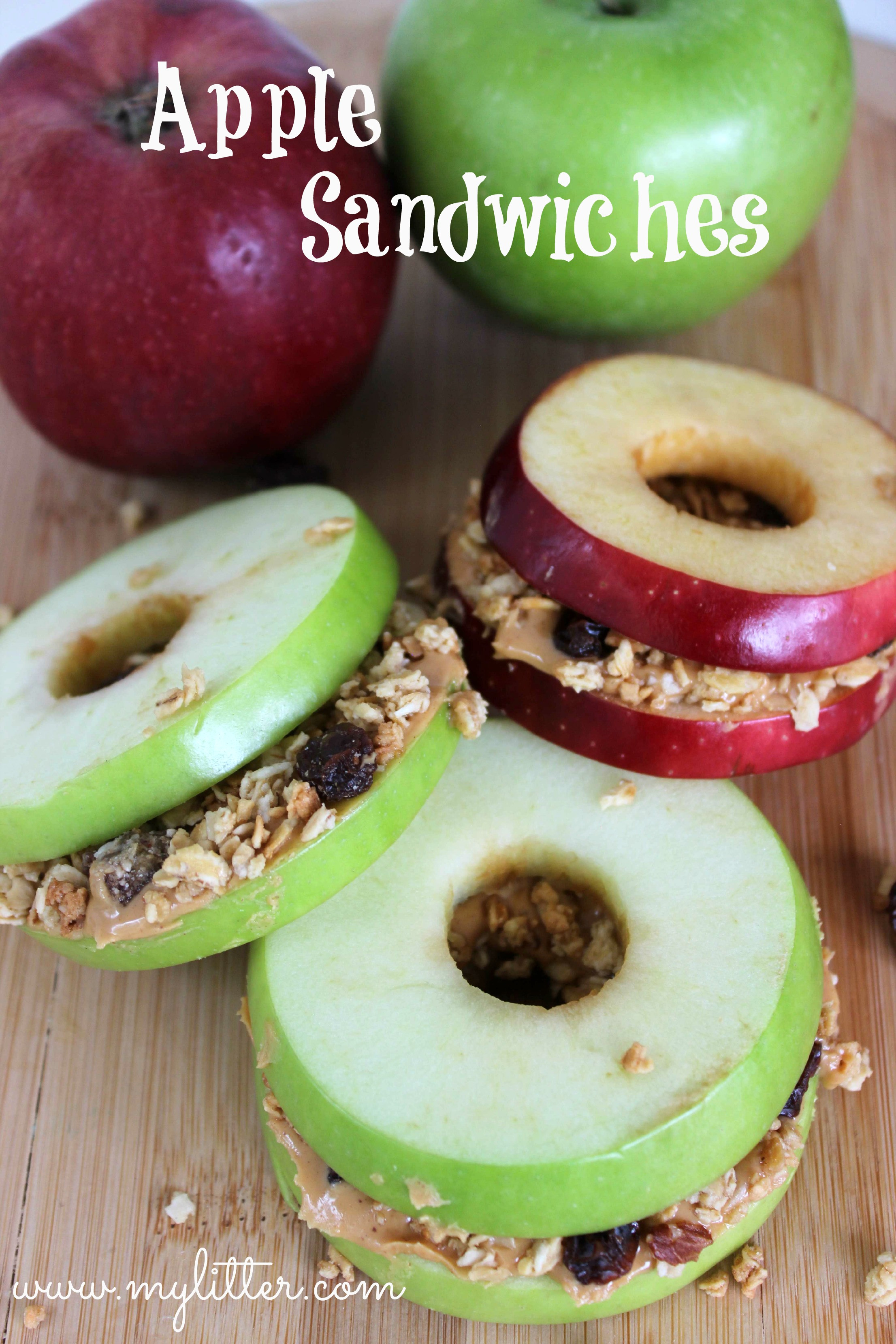 Good And Healthy Snacks  Healthy Snacks Apple Sandwiches MyLitter