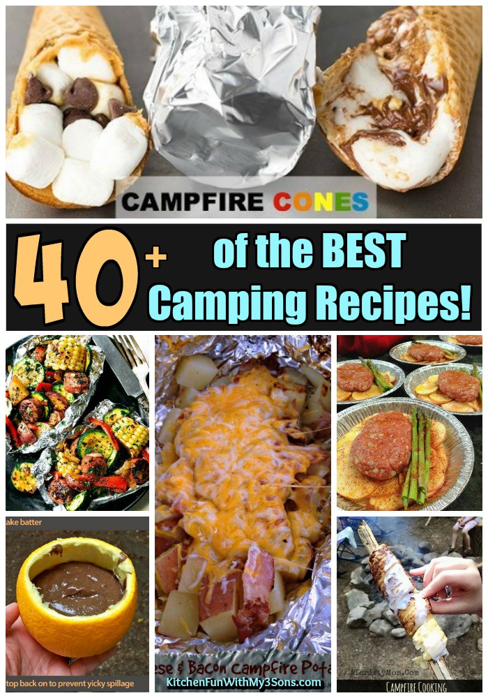 Good Camping Dinners  40 of the BEST Camping Recipes Kitchen Fun With My 3 Sons