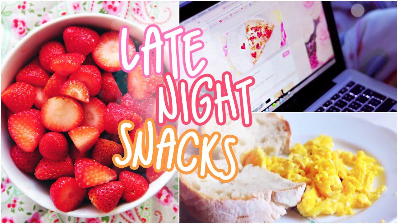 Good Healthy Late Night Snacks  easy late night snacks to make