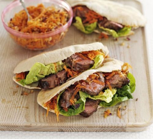 Good Summer Dinners  Summer lamb with carrot & fennel salad recipe